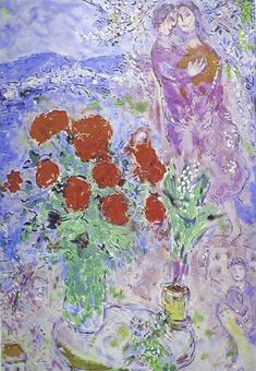 Marc+Chagall+-+Red+Bouquet+with+Lovers
