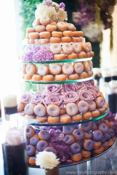 Brunch Wedding Ideas - donut cake!!