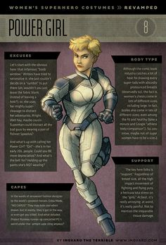 Female Superhero Redesign Costume | #PowerGirl