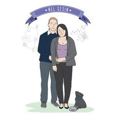 Personalised Illustrations with a touch of whimsical by PaperHeartIllustrate Portrait Illustration, Couple Portraits, Whimsical, Etsy Seller, Family Guy, Draw, Couples, Creative, Anime