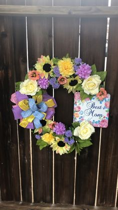 Front Door Porch, Mom Show, Mothers Day Wreath, Holiday Market, Spring Wreaths, Second Child, Best Mom, Create Yourself, Floral Wreath