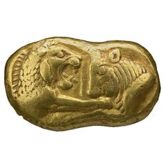 Gold coin of Croesus        Lydian, around 550 BC, from modern Turkey    British Museum