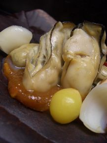 牡蠣朴葉焼き