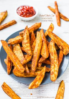 Baked Thick-Cut Seasoned Oven Fries @Averie Sunshine {Averie Cooks} Sunshine {Averie Cooks} Sunshine {Averie Cooks} Sunshine {Averie Cooks}