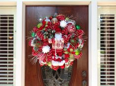 Large Santa Dessed in His Sweater Wreath by HertasWreaths on Etsy