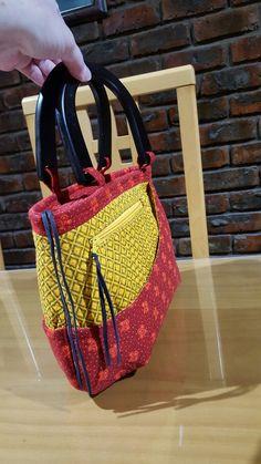 Handmade handbag red and yellow shweshwe