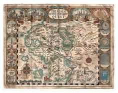 The Realm of the Unending Quest. A map of fantasy locations from literature, film, video games and general fandom.