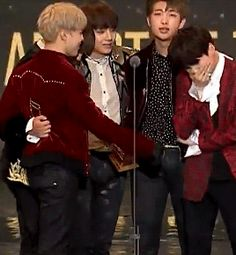 This killed me a little inside because Yoongi is so happy he is crying and oml he's just too precious and cute I love him <3