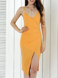 Bodycon Dresses | Alluring Spaghetti Strap Asymmetrical Sheath Dress #summer #fashion #sexy #dress