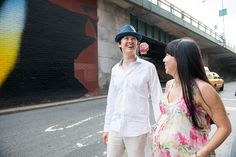 Stylish & Hip Kids - portfolio - maternity - Brooklyn Bridge - Dumbo - maternity session outdoors
