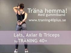 Enkel och bra övning för en snygg rygg och starka armar. Effektiv och rolig hemmaträning för lats, axlar och triceps, tre olika övningar - träningsvideo.
