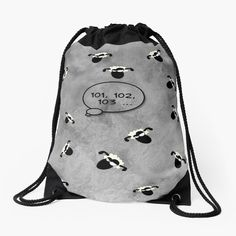 -  Made from 100% polyester woven fabric. -  Wide, soft draw cord that's easy on your      shoulders. -  Durable quality metal grommets. -  Long-lasting printed design on both front and back. . . #sheep  #sheepcartoon  #sheepillustration  #counting sheep  #sheepbag  #insomnia  #bag  #drawstringbag  #shopproducts  #totebag  #shoulderbag  #funbag  #weekendbag  #bitsofeverywhere