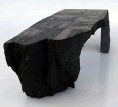 Unique stone table - combines natural edges and custom cuts
