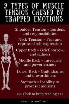 - 9 Types of Muscle Tension Caused by Trapped Emotions Do you struggle with chronic pain, fibromyalgia or constant anxiety and stress? Here is what your pain means. Types Of Muscles, Shoulder Tension, Understanding Anxiety, Muscle Tension, Massage Therapy, Massage Envy, Chronic Pain, Health Benefits, Health Tips