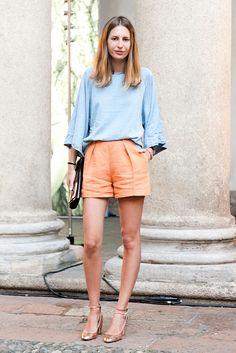 Burda pleated shorts insp.