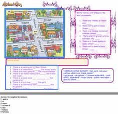 english worksheet city places prepositions of place ni os pinterest aula. Black Bedroom Furniture Sets. Home Design Ideas
