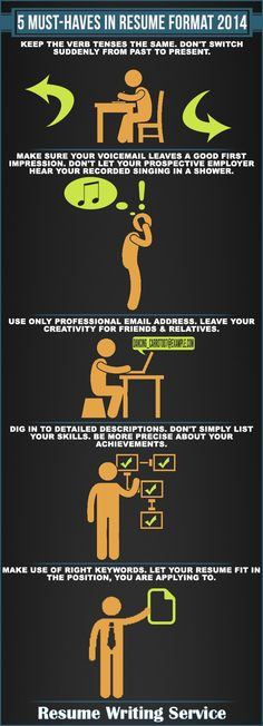 Infographic How to Get Noticed by Recruiters more at pinterest - professional services resume