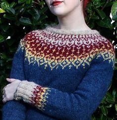 Ravelry: Hjarta Lopi pattern by Amy Gleixner Fair Isle Knitting Patterns, Fair Isle Pattern, Knit Patterns, Icelandic Sweaters, How To Purl Knit, Yarn Needle, Crochet Yarn, Knitting Projects, Bunt