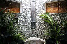 Cool Open Shower Bathroom Design For Outdoor Bathroom