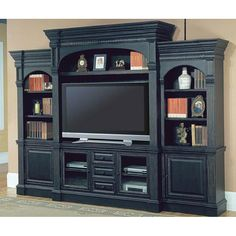 Details about westminster large white ornate tv entertainment center wall unit parker house for The parkers tv show living room