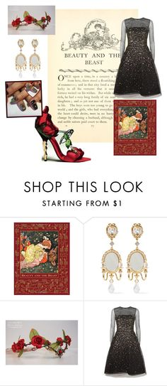 """""""Fashionable Fables: Beauty"""" by makennadelaneypowell on Polyvore featuring Disney, Dolce&Gabbana and Oscar de la Renta"""