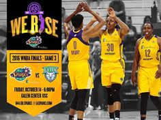 It's game day! Sparks vs Lynx Game 3 of the 2016 @WNBA Finals. Tip off 6pm tonight at Galen Center – USC. Buy your tickets now at lasparks.com or call 844.GO.SPARKS. #WeRise #ComeWatchUsWork #GoSparks