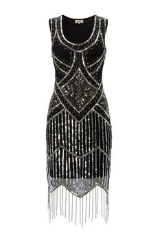 UK14 US10 AUS14 Black Vintage inspired 1920s vibe door Gatsbylady