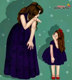 Image may contain: one or more people, people standing and text Mother Daughter Quotes, Mother Art, Mom Daughter, Mother And Child, Love My Kids, Love Mom, Mothers Love, Love Cartoon Couple, Girly M