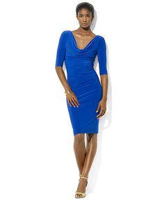 Macy\u0026#39;s Ralph Lauren Dresses | Lauren Ralph Lauren Dress, Three-Quarter-Sleeve Pleated