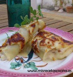Canelones de carne de cocido hechos con la thermomix. #recetas, #thermomix, #pasta