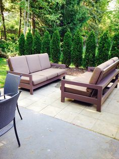 Outdoor sectional couch by ben robinson lumberjocks outdoor patio couches do it yourself home projects from ana white solutioingenieria Image collections