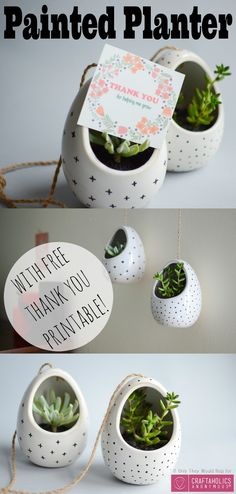 Free Teacher Appreciation Printable and DIY Hanging Succulent Planter Gift Idea | Craftaholics Anonymous®