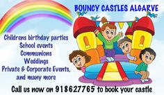 We are a family run business providing bouncy castles across the Algarve. We supply bouncy castles for a number of occasions: http://www.algarveweddingdirectory.info/section699735.html