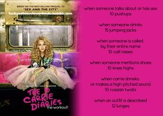 The Carrie Diaries…the workout! Want to see more workouts like this one? Follow us here!