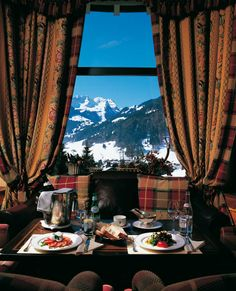 The most wonderful winter view...cosy up inside Gstaad Palace and admire the scenery  http://www.palace.ch/