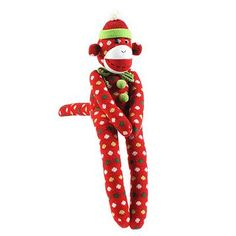 Christmas Sock Monkey. This would go perfect with our stockings.