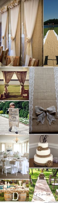 Burlap Wedding Ideas. My kind of country wedding