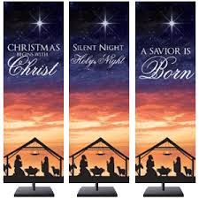 hope peace joy love advent indoor banner church banners