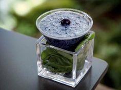 blueberry basil almond milk smoothie