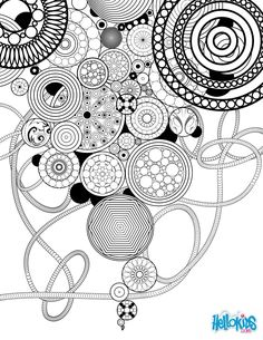Circles and Rosettes coloring page