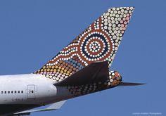 British Airways B747-400, Australia (Water Dreaming) World Art tailfin