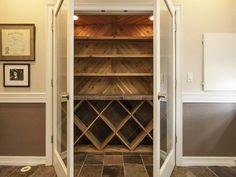 Closet turned to wine storage