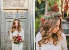 flower crown, head wreath // Cutting Garden at Flora Grubb // Catie Coyle Photography // Events by Satra