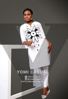 Get your festive mood on as Nigerian fashion brand, Yomi Casual unveils his latest collection titled 'Man of the Year' just in time for the holidays. The collection offers a wide range of comfortab… African Dresses For Women, African Print Dresses, African Print Fashion, Africa Fashion, African Attire, African Fashion Dresses, African Wear, African Women, African Prints