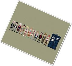 The Eleven Doctors #DoctorWho cross-stitch
