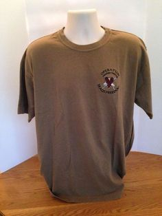 U.S MILITARY ARMY FT CAMPBELL RED T SHIRT SIZE  LARGE SHORT SLEEVE NEW