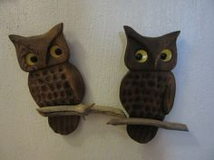 Vintage Wood Owls Wood Owls Vintage Owls Owl Wall by UNBROKENPAST