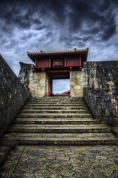 Red Gate,Shuri Temple in Okinawa, Japan