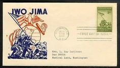 WWII First Day Covers | ... about 1945 FDC 3c IWO JIMA FIRST CACHET: Ken Boll Marines World War II Iwo Jima, You've Got Mail, First Day Covers, 3c, World War Ii, Marines, Wwii, Lettering, World War Two