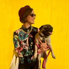 Roxanne wearing H&M, with her pug Mochi.  Photo Credit: PJ Kotze  my 21 days of h&m campaign!